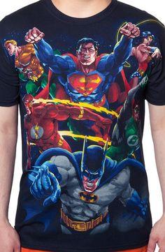 Reversible DC Comics Heroes and Villains T-Shirt