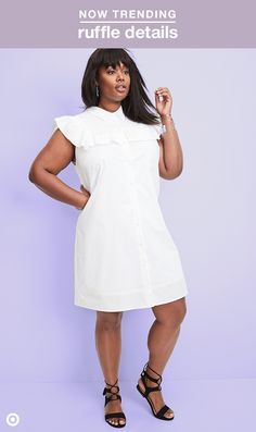This spring, we're all about ruffles! That can be classic girly pieces, but we're also loving this menswear-inspired ruffle dress. It's the perfect way to get in on the trend, whatever your personal style.