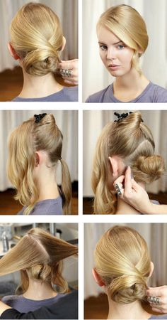 Wedding hair tutorial | Sleek bridal updo with low bun