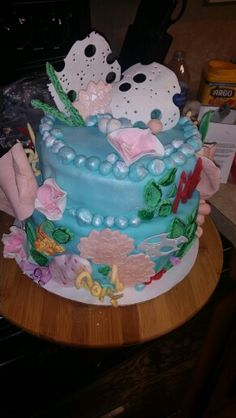 Coral reef cake my latest project.   Under the Sea birthday party