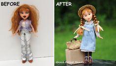 Anne of Green Gables  Doll repainted Makeunder Bratz dolls  Make over dolls  Etsy shop https://www.etsy.com/shop/GraceFilledHands