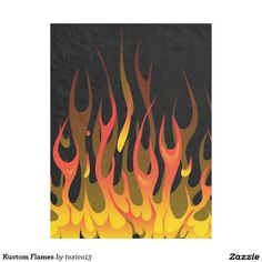 Kustom Flames Fleece Blanket