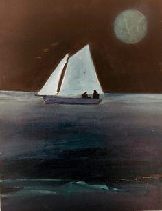 Through Phorphorescent Sea (Study) by Tom Hammick