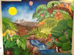 "vægmaleri ""jungle"""
