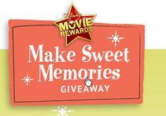 Disney Movie Rewards Make Sweet Memories Giveaway | http://www.chipandco.com/disney-movie-rewards-sweet-memories-giveaway-178220/