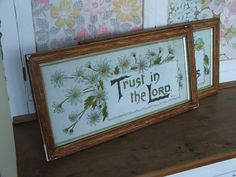Trust in the Lord religious print