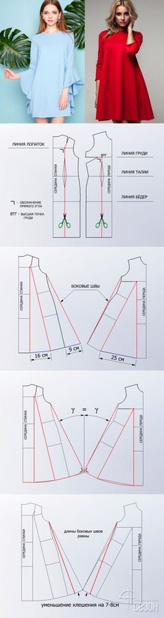 Ideas dress pattern tunic free sewing for 2020 Sewing Hacks, Sewing Tutorials, Sewing Projects, Sewing Tips, Dress Sewing Patterns, Clothing Patterns, Pattern Dress, Diy Clothing, Sewing Clothes