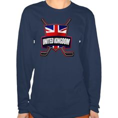 """#British Ice Hockey Shield Women's T-Shirt.This design is available on a wide range of apparel for men, women, children and babies! Check out the """"Hockey Nations"""" department in my store: http://www.zazzle.com/gamefacegear*/ #HockeyTShirts"""