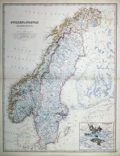 Political Map Of Sweden Family History Pinterest Sweden Map - Sweden big map