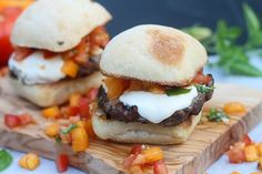 bruschetta burgers..  #TheTexasFoodNetwork #chefshellp  share your recipes with us on Facebook at The Texas Food Network