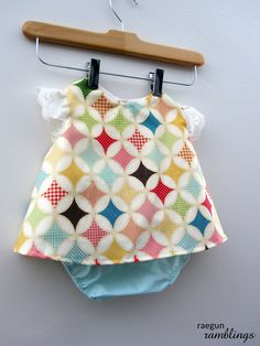 Perfect Summer swing top for baby. Great for play, birthdays, or photo sessions for the fashionable kid. $23.50, via Etsy.