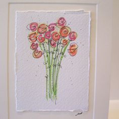 """Watercolor  Card """"All My Love"""" Original  With Envelope  betrueoriginalart"""