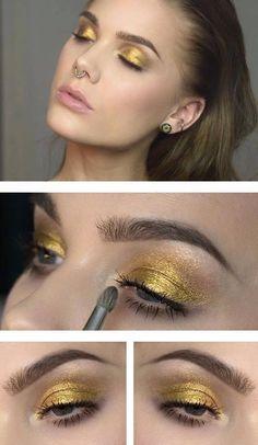 Dagens make-up Archives - Page 328 of 464 - Linda Hallberg - Jessica Homes Makeup Geek, Makeup Inspo, Makeup Inspiration, Beauty Makeup, Makeup Ideas, Eyeliner Makeup, Linda Hallberg, Yellow Makeup, Gold Makeup
