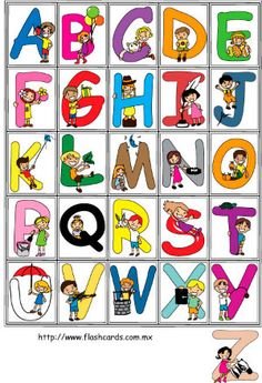 Kids colors and type Alphabet Templates, Alphabet Charts, Abc Alphabet, Alphabet Coloring Pages, Alphabet Design, Alphabet And Numbers, Preschool Color Activities, Learning English For Kids, Cross Stitch Letters