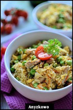 Anyżkowo: Fried rice with beef