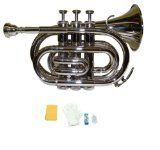 Merano Wd480sv-A B Flat Nickel Pocket Trumpet With Case And Mouth Piece, Silver, 2015 Amazon Top Rated Trumpets #MusicalInstruments