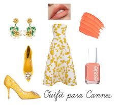 """Cannes outfit"" by mrwhospain on Polyvore featuring moda, The 2nd Skin Co., Dolce&Gabbana y Essie"