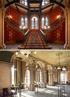 This beautiful building has plenty of glamorous details – the Gothic Revival metalwork, gold leaf ceilings, hand-stencilled wall designs and the grand staircase, which is perfect for your wedding photographs. There's also an elegant roof terrace at St. Pancras Renaissance Hotel you can enjoy.