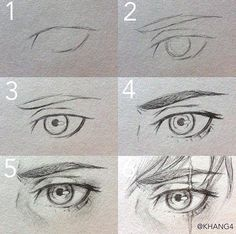 Art Drawings Sketches Simple, Pencil Art Drawings, Drawing Expressions, Anime Eyes, Eye Art, Art Reference Poses, Drawing Techniques, Art Tutorials, Tips