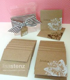 Lisa's Creative Corner: June Club Project - Personalized Mini Kraft Card Set