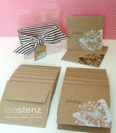 Lisa's Creative Corner: June Club Project - Personalized Mini Kraft Card Set