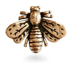 """Handcrafted In USA, Antiqued Matte Finish Napoleonic Bumble Bee Lapel Pin Small 0.75"""" By 0.50 * Details can be found at"""