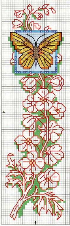 """Photo from album """"Закладки"""" on Yandex. Views Album, Bookmarks, Cross Stitch, Yandex Disk, Butterfly, Embroidery, Beads, Crochet, Patterns"""