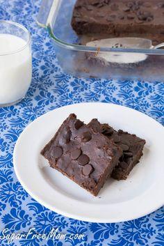 Sugar Free Brownies from sugerfreemom.com. Best sugar free brownies I have tried.