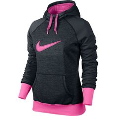 Nike Women's Swoosh Out All Time Hoodie I LOVE Nike stuff!... but in blue or green instead... Pink is nasty!