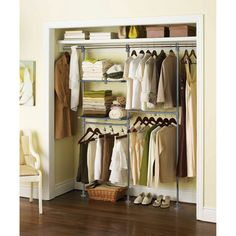 Mainstays Custom Closet Organizer Kit. This is what I need for the closet!!