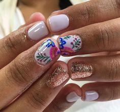 Oh so pretty nail art for short nails!❤ #nailart #nails #unas