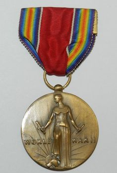 ORIGINAL WWII ISSUE US VICTORY MEDAL $16.99 + $2.50 Shipping