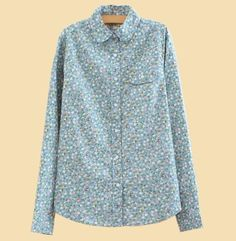 Floral Print Cotton Long Sleeve Blusas Femininas 2014 Autumn Fashion Pink Blusa Renda Camisas Shirt Women Blouses