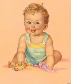 Vintage Old Store Stock  PRINT CHILD BABY with by thecherrychic, $7.95