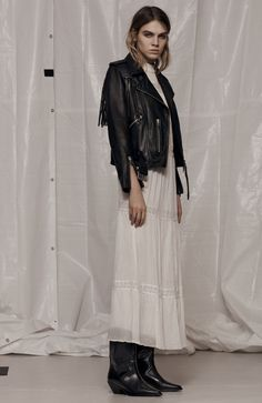 AllSaints Women's February Lookbook Look 7: Tassel Balfern, Nima Pinto Dress, Evi Boot Laid Back Style, My Style, Ootd, All Saints, Beauty Photography, London Fashion, Spring Fashion, Lace Skirt, Fashion Beauty