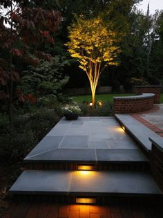 If you are considering lighting your garden/landscape, do remember firstly that a little light goes a long way at night. See our top garden lighting tips and ideas below to help you light beautifully and use the right exterior light . Garden Lighting Tips, Outdoor Garden Lighting, Landscape Lighting, Outdoor Gardens, Outdoor Walkway, Outdoor Stairs, Stone Walkway, Outdoor Planters, Landscape Design
