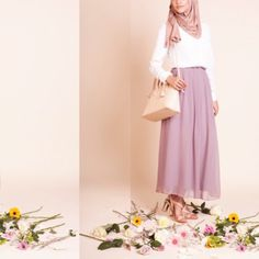 Grab now the last pieces of the INAYAH mauve pleated skirt!   Schnapp dir jetzt die letzen Teile des INAYAH mauve Faltenrocks.   www.nismashop.de #hijabfashion #heretwoinspire #chichijab #spring #nismashop