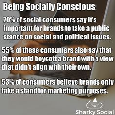 Being socially conscious is always a good thing. But when it comes to taking a strong stance as your business things get tricky. There are multiple ways to look at this, but ultimately you'll need to decide what is best for you and your business. Best Social Media Sites, Power Of Social Media, Political Issues, Management Tips, Business Marketing, Consciousness, Insight, How To Become, Public