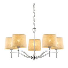 allen+roth 5-Light Polished Nickel Chandelier for entryway or above dining area