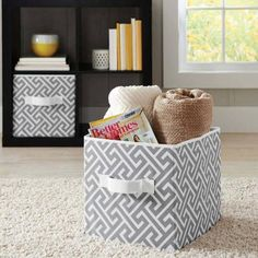 AmazonSmile Foldable Cube Storage Bins - 6 Pack - These Decorative Fabric Storage Cubes are Collapsible and Great Organizer for Shelf ... & AmazonSmile: Foldable Cube Storage Bins - 6 Pack - These Decorative ...