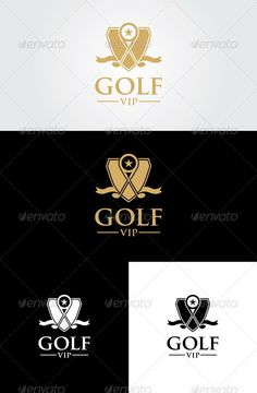 Golf Vip Logo Template #member #ball #luxury • Click here to download ! http://graphicriver.net/item/golf-vip-logo-template-/6916410?ref=pxcr