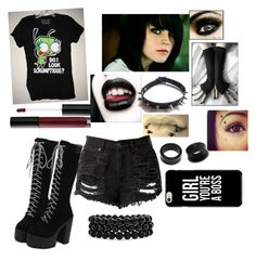 """zombie"" by aroainig ❤ liked on Polyvore featuring art"