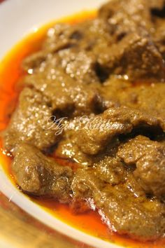 Halal Recipes, Spicy Recipes, Curry Recipes, Meat Recipes, Indian Food Recipes, Cooking Recipes, Malaysian Cuisine, Malaysian Food, Malaysian Recipes