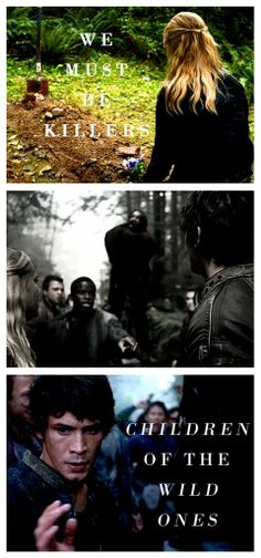 Children of the wild ones. Clarke Griffin (Eliza Taylor) and Bellamy Blake (Bob Morley) II The 100 ships: Bellarke