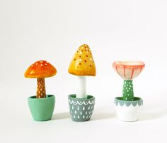 Fantasy  toadstool - Paper clay miniature - Quirky home decor - Gift under 30 dollars. £20.00, via Etsy.