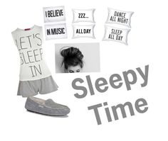 """Sleepy time"" by the-simple-life-of-aud on Polyvore featuring Jac Vanek, Boohoo and UGG Australia"