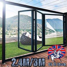 High Quality Aluminuim Bi-Fold Glass Door Inc 3 Panels Protector Screen Glass Door, Things To Buy, Concept, Windows, Doors, Ebay, Amazon, Kitchen, Black