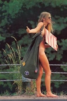 Woodstock, 1969, hitch hiker going to Woodstock. Every mode of transportation.  I wonder where she is now?