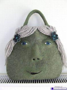 Weird Purses Felt Purse Craft Bags Handmade Handbags Unique Felting