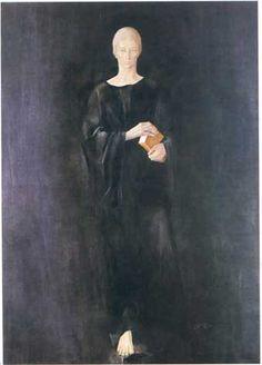 """The Young Saint Benedict of Nursia"" (1980) by Montserrat Gudiol; Oil on canvas, in the Basilica de Montserrat"